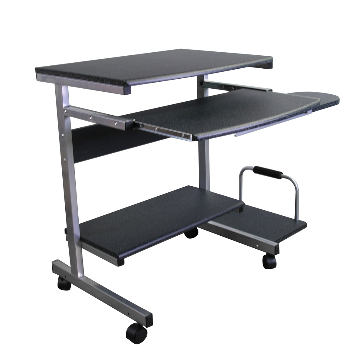 Mcd 946a Mobile Computer Desk Solution With Cpu Side Shelf