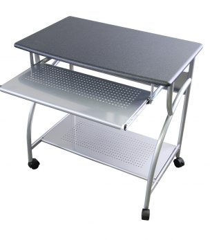 MCD-947A Steel Mobile Compact PC Desk (Anthracite)