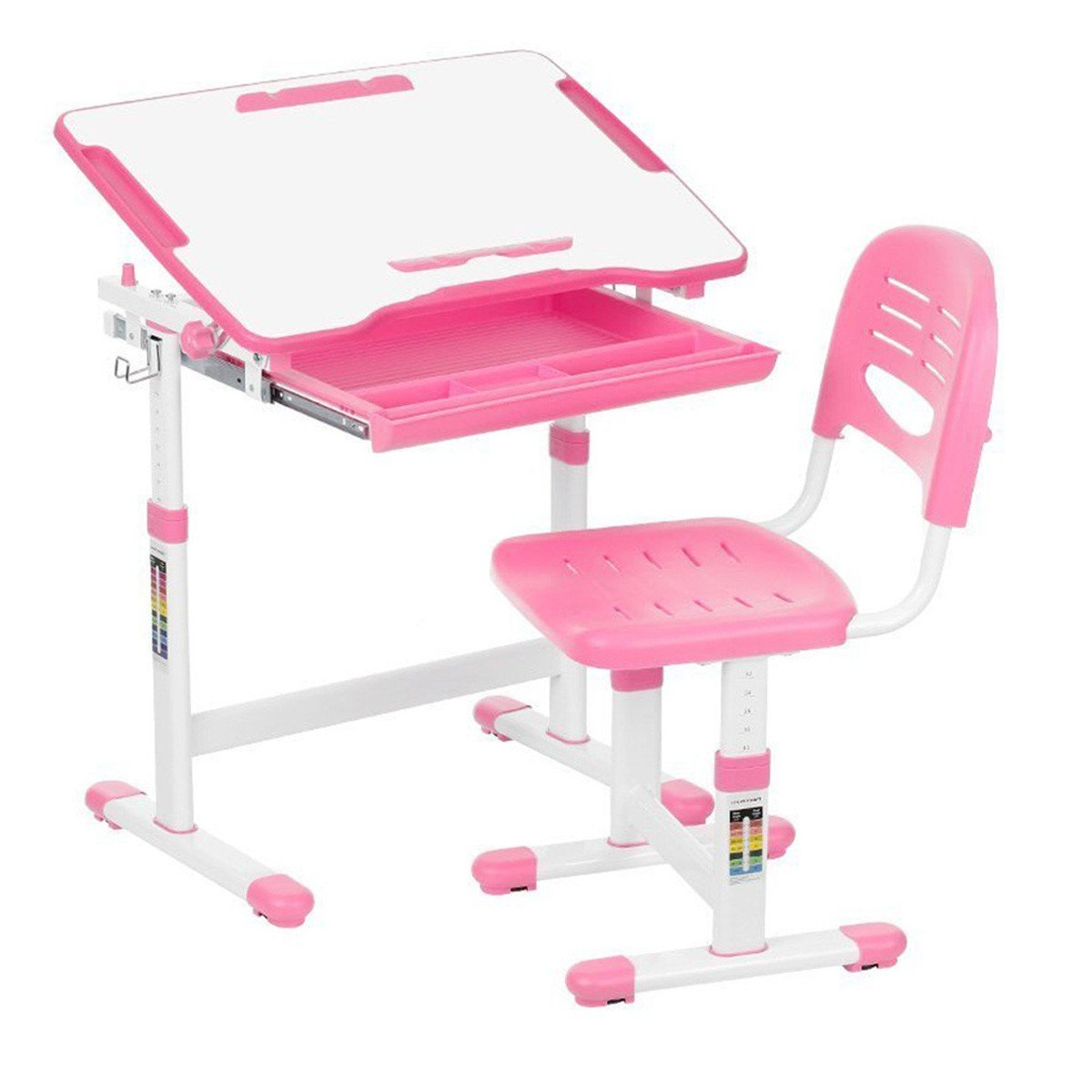 KidzDesk KD26P Desk and Chair Set (Pink)
