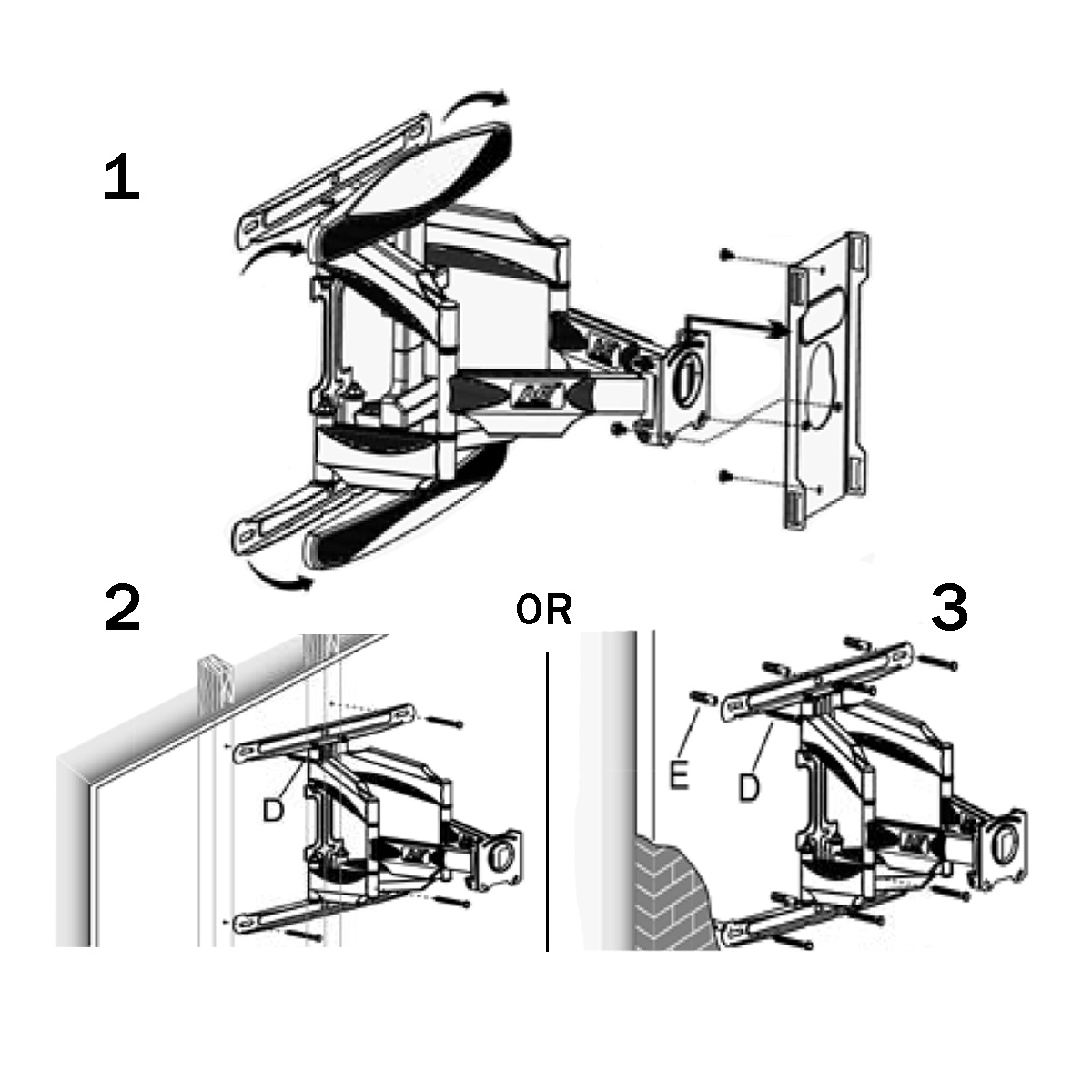 Universal Amf 4070 Dual Arm Articulating Tv Mount