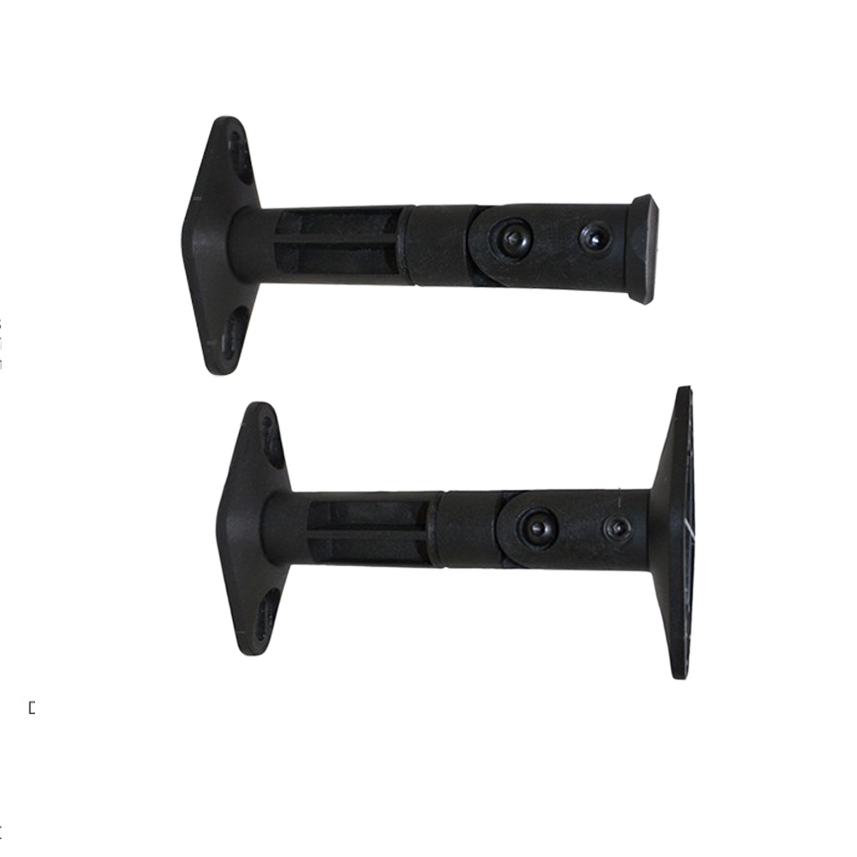 Universal Cwsm B Black Speaker Brackets With Tilt And