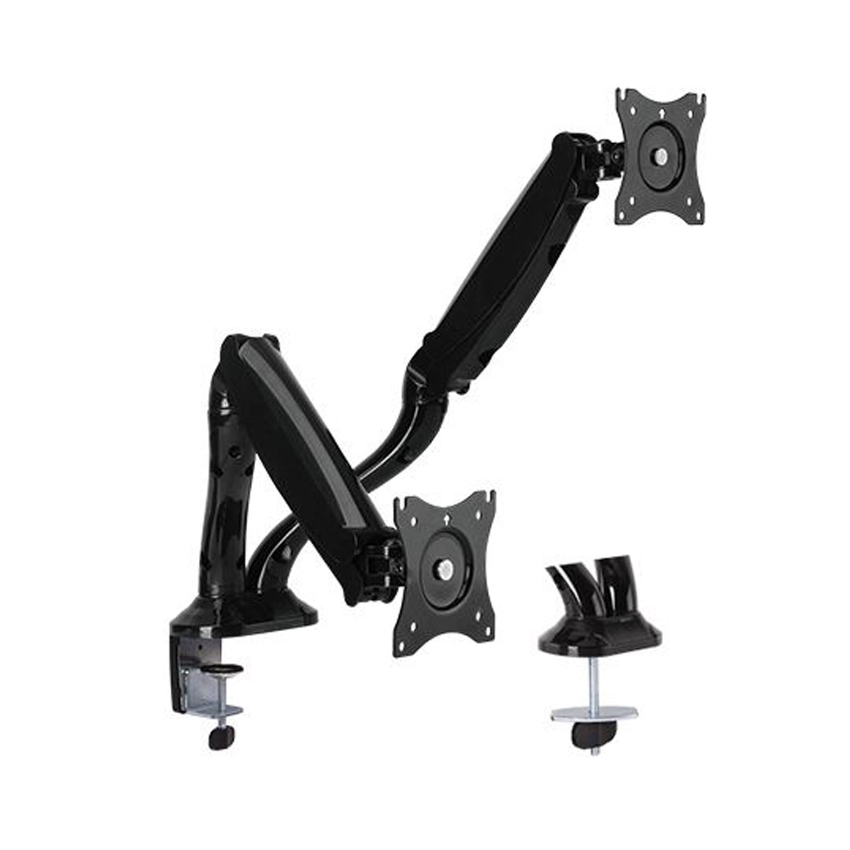 DM-1327D Dual Arm mount Black