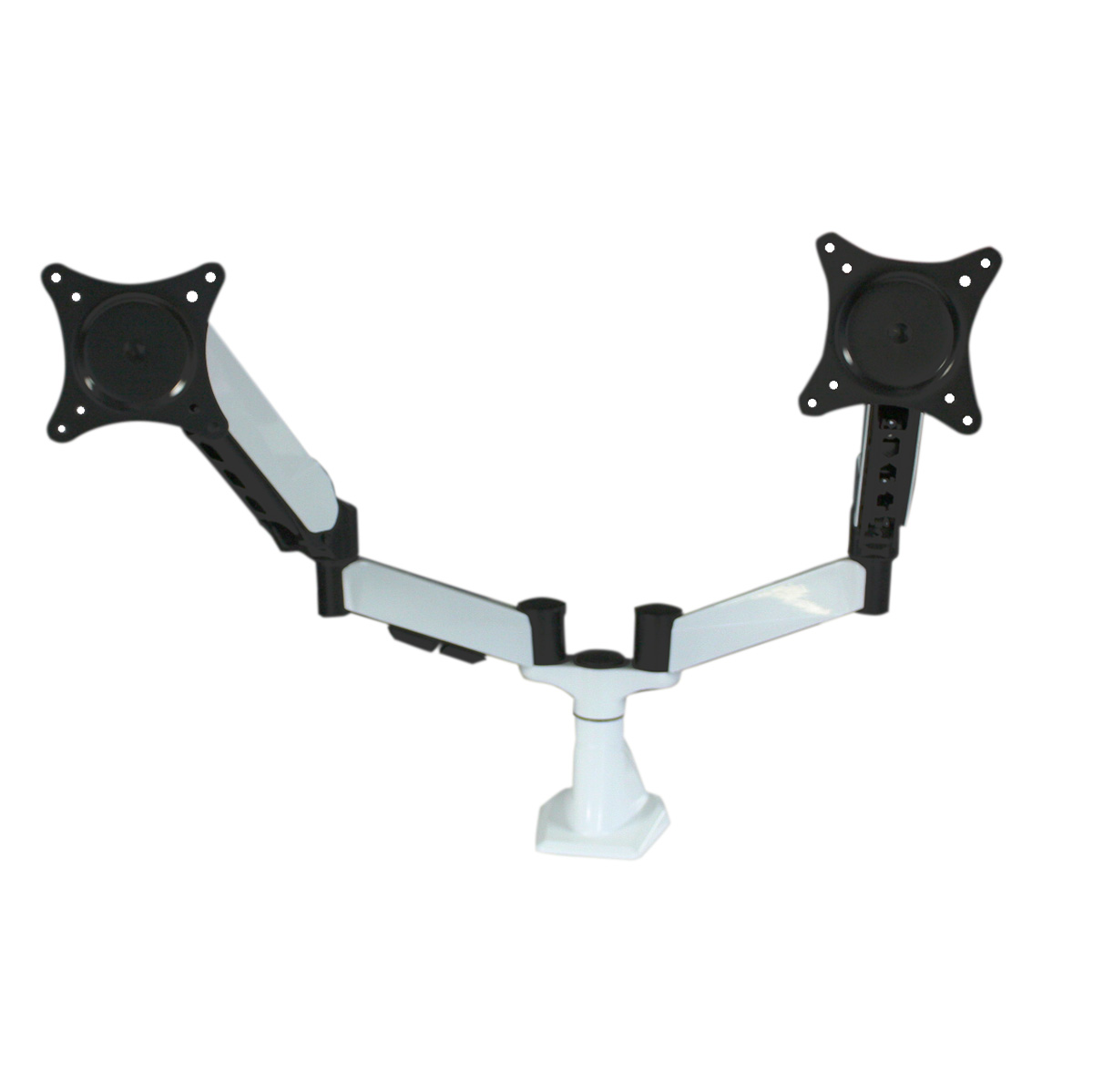 DM1527-D White Desk Monitor Mount