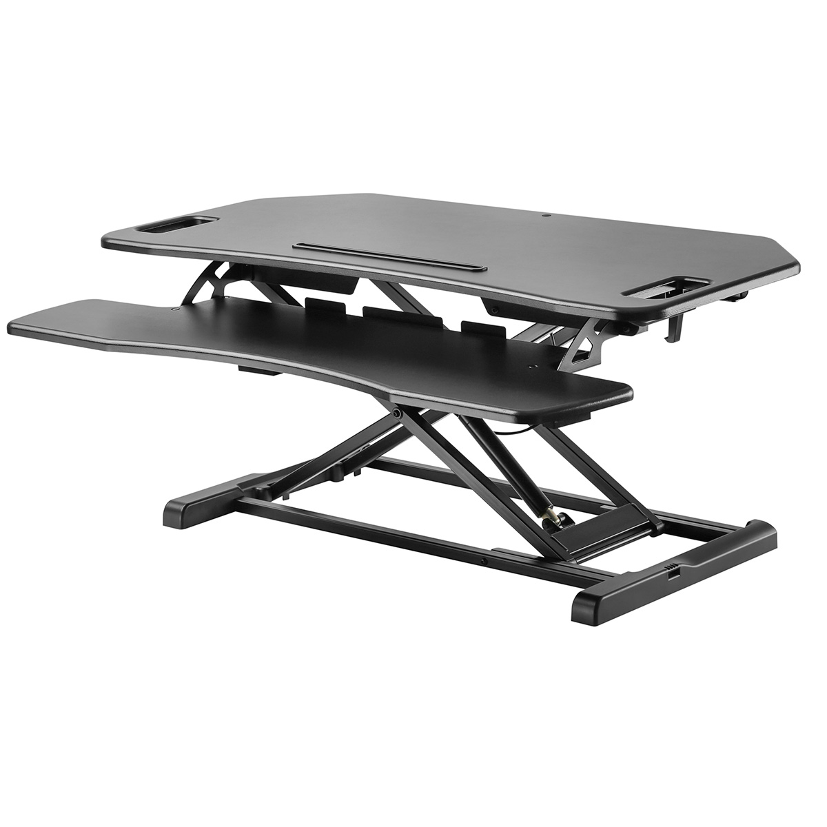 STS-DR38C Corner Desk Sit to Stand Solution