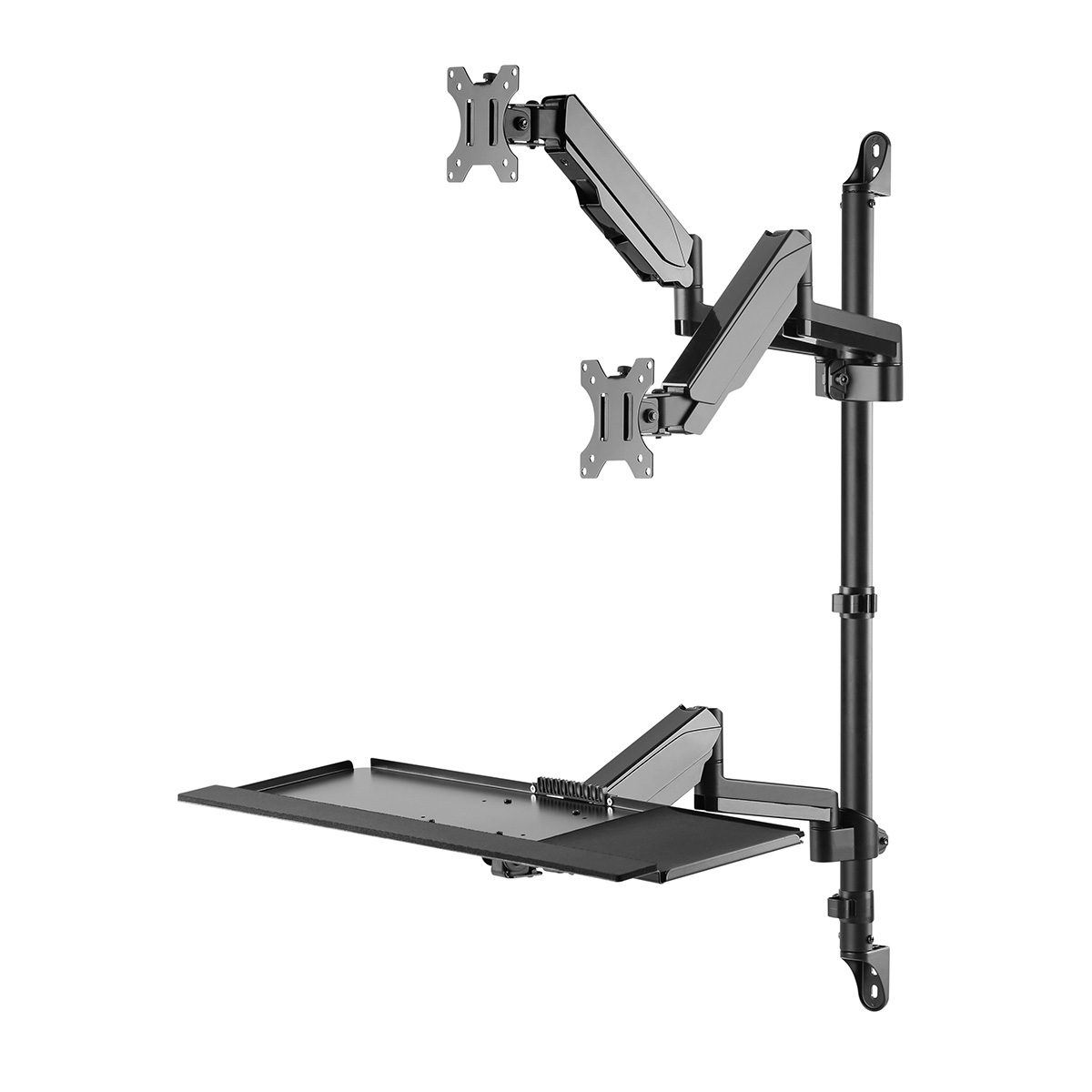 WMP-1332D Dual Display Wall Mount Workstation